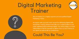 Looking for a DigitaL Marketing trainer