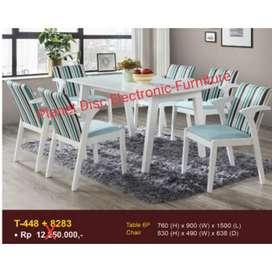 Meja Makan Kayu 6 Kursi  Dining Set 6 person  Dining Table