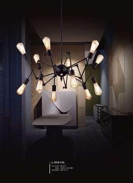 L636/12L lampu gantung hias lighting laba laba classic spider pendant
