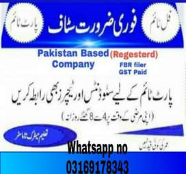 Jobs avaible for male and female