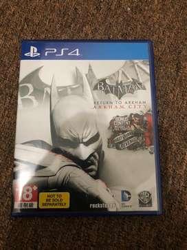 Game Blueray Disc Ps4 Batman Return To Arkham City.
