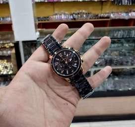 jam tangan fossil 3 chrono on black rose gold
