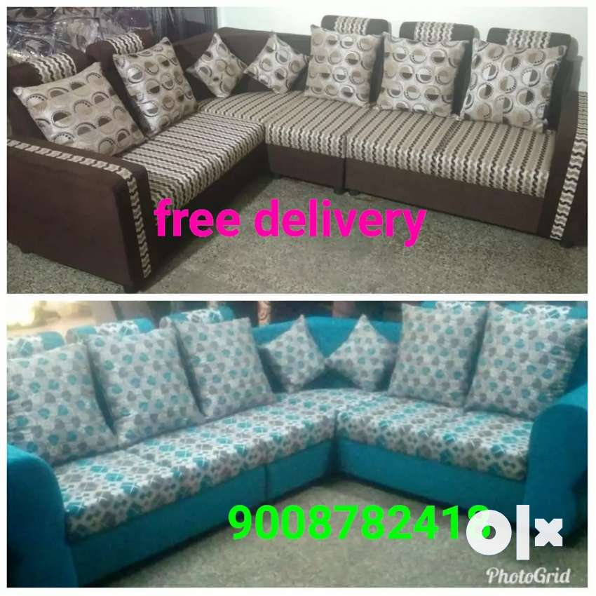 Free home delivery L shape Sofa set 0