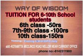 TUITION FOR 6-10TH CLASS STUDENTS