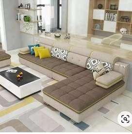 L shape high density sofa