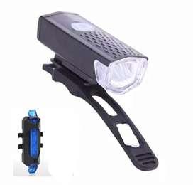 [COD] Lampu sepeda depan dan belakang bisa dicas/rechargeable