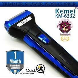 Kemei rechargeable in 1 shaver trimmer nose trimmer