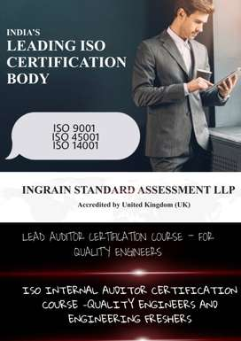 Quality engineers Internal Auditor certification & Lead auditor Cert