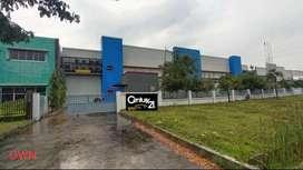 Dijual Gedung + Gudang semi furnish di kawasan industri Delta silicon.