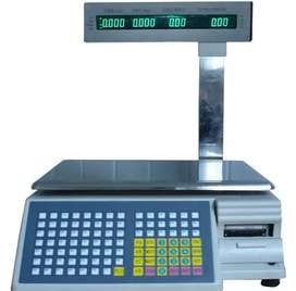 Weighing scale with bar code printer