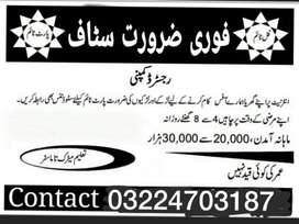 Job available for Male/Female