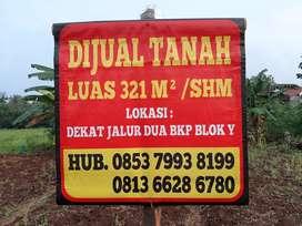 Dijual tanah siap bangun luas 321 m² SHM