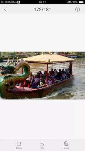 Di jual perahu naga utk wahana air di tempat wisata.