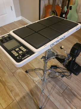 Roland SPD-30 Octopad with stand & V-Drums pedal