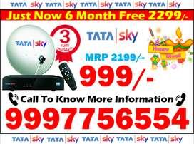 diwali 100% OFF Tata Sky New HD DTH Connection & airtel tv & dish tv