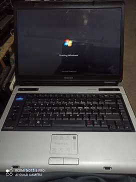 Toshiba laptop core 2 dou, urgent sale exchange with laptops only