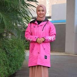 Mecink Azura Baby Pink | Jaket Wanita Muslimah | Jaket Hijabers