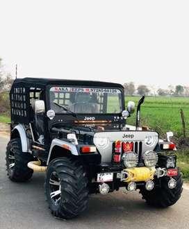 Black modified jeep