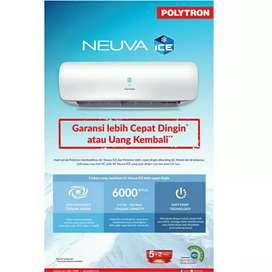 AC Polytron NEUVA ICE PAC 05VX 1/2pk + Pasang instalasi Garansi Resmi