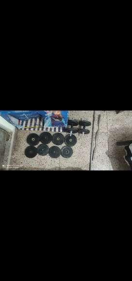 2000/-Gym set 40 kg rubber plate