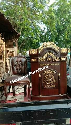 Mimbar masjid podium furniture jpr