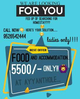 Homestay for ladies .