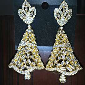 Bell Shape Earrings Dual Color | Artificial Jewelry