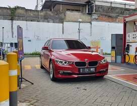 BMW 320i F30 Melbourne Red on Beige