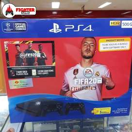 PS4 Slim 500GB Bundle FIFA 20 +2STICK GARANSI SONY