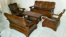 Kursi tamu gajah kayu jati merahan 10