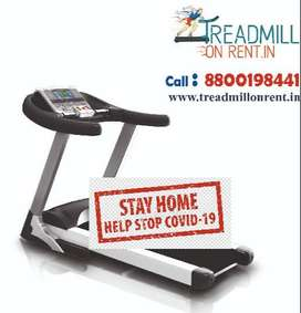 Treadmill on Rent spin bike cross trainer multi gym bench on rent hire
