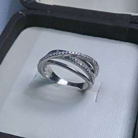 Silver Ring with Zircon stones|925 Sterling Silver