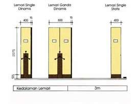 LEMARI ARSIP DORONG Mekanik Merk LION