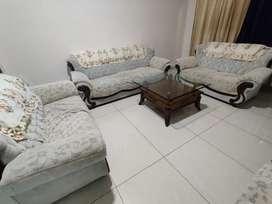 Teakwood Sofa set 9 seater