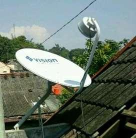 Channel digital Jernih Indovision Mnc Vision Family Pack tahan hujan