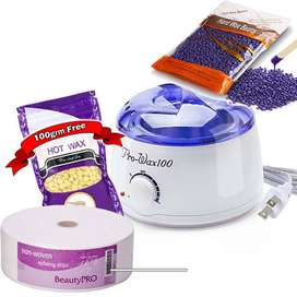 Hot Wax Heater with wax Beans & strips, The pearl glow