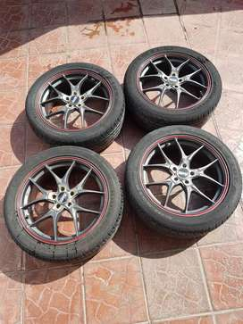 Advanti Alloy Wheels Rims with tyres (PCD: 100 x 5 - 17x7JJ)