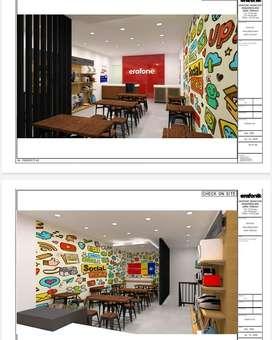 Termurah Jasa Interior design dan Build Kantor Apartemen Rumah Cafe