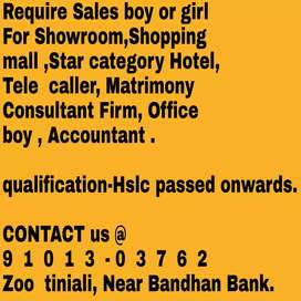 Direct joining, Require staff for Star category Hotel, Showroom