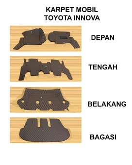 Karpet Toyota Innova Th 2010-2020 full set karpet mobil 5D bahan kulit