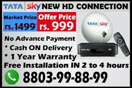 TATA SKY HD Airtel digital Dish tv Videocon d2h Tatasky Binge+ DTH