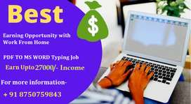 Best & Simple Typing work| Part Time, Online Job.