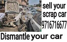 scrap car old spair parts