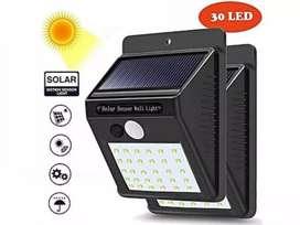 PROMO - Lampu Dinding / Solar Wall Light 30 Led Tenaga Matahari PIR