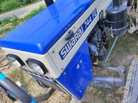 Swaraj 744 fe + trolly + water tank with bambi