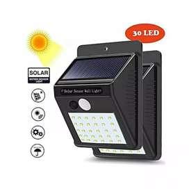 Lampu Dinding/Solar Wall Light 30 Led Tenaga Matahari PIR CDS Sensor