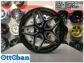Velg AMW Mach R18x8 h5x114.3 Xpander Civic Camry Rush Terios CRV HRV