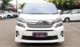 TOYOTA VELLFIRE Z 2.4 AT 2013 KM 68RB,Goldn eye,Kondisi super mewah