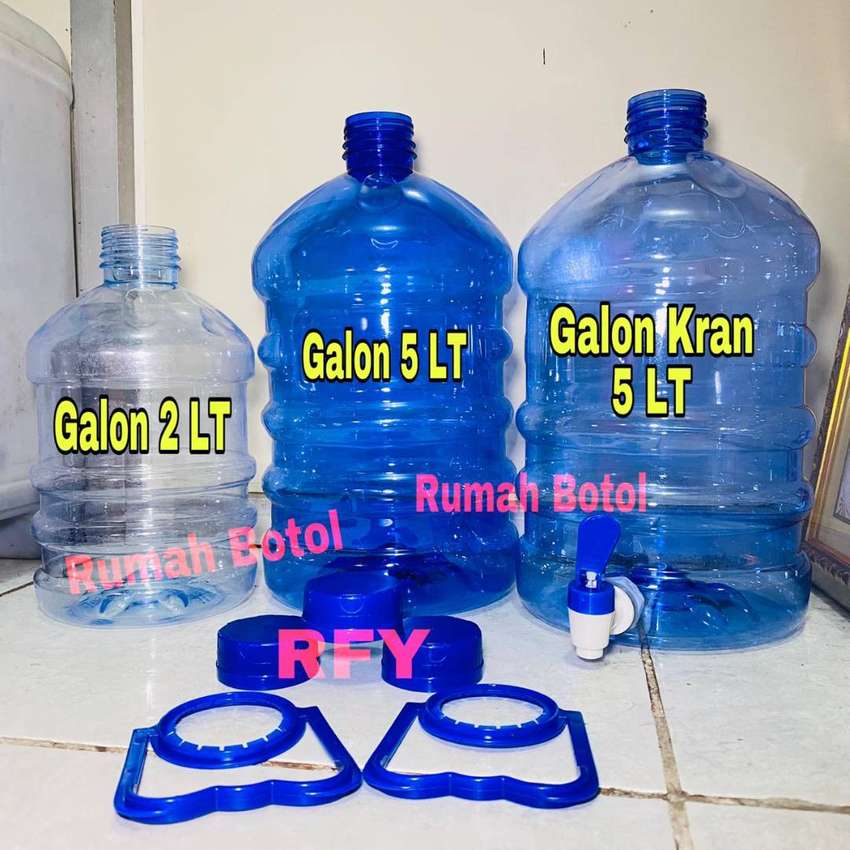 GALON PET / Galon Guci + KRAN 2LT - 5LT - 10LT - 12LT - 20LT 0