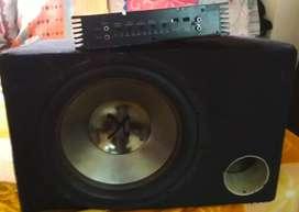 Subwoofer 1200 watts + 4800 Watts Amplifier